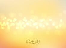 Soft Yellow Bokeh Blur Background