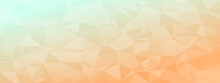 Low Poly Abstract Modern Background. Delicate Colors Chaotic Triangles Variable Size And Rotation. Minimalist Layout For Business Card Landing Page Wallpaper Website Brochure. Trendy Vector Eps10