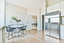 Modern Kitchen With Dining Zone