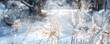 canvas print picture - gräser im winter