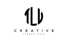 Letter TLV Creative Circle Logo Design Vector
