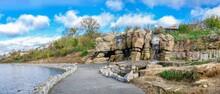 Waterfall In Fantasy Park Of Uman, Ukraine
