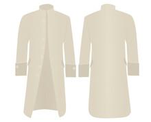 Beige Retro Coat. Vector Illustration