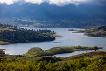 View Of The Biggest Artificial Lake In Colombia Called Calima Lake Located On The Mountains Of Darien At The Region Of Valle Del Cauca