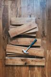 Fototapeta Kawa jest smaczna - Solid oak wood flooring
