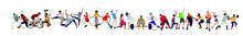 Set Of People Doing Different Sports Activity, Set Of Sports Person, Exercising, Healthy Life