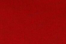 Dark Red Fabric Cloth Texture For Background, Natural Textile Seamless Pattern.