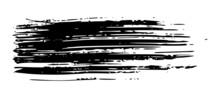 Black Brush Stroke On White Background