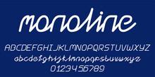 Monline Script Font Alphabet