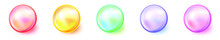 Colorful Balls. Set Of Glossy Balls With Shadows. Vector Illustration. Abstract Balls
