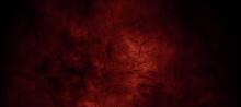 Dark Red Horror Scary Background. Dark Grunge Red Texture Concrete