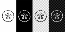 Set Line Gear Icon Isolated On Black And White,transparent Background. Cogwheel Gear Settings Sign. Cog Symbol. Vector