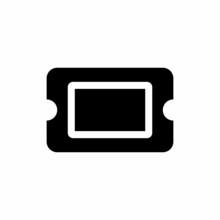 Ticket Alt Icon. Flat Style Design Isolated On White Background.