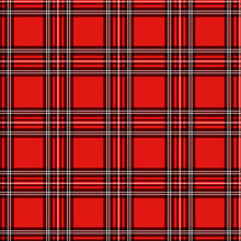 Seamless Pattern Red Buffalo Plaid Vector Illustration