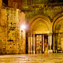 Night Square In Front Of The Church Of The Holy Sepulcher