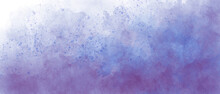 Blue And Light Pink Sky Gradient Watercolor Background With Clouds Texture