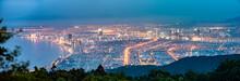 Panoramic View Of Da Nang City After Sunset, Vietnam