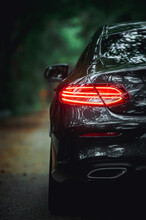 Sports Car On Black