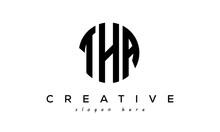 Letter THA Creative Circle Logo Design Vector
