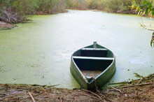 Old Boat Swamp Sunset Ukraine