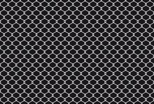 Barbed Wire Background. Black Wire Mesh Isolated White Background. Fence Barb Construction Zone Vector Illustration Template. Barbed Wire Fence. Black Grid Backdrop.