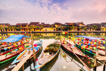 Decorated Boats On The River, Hoi An