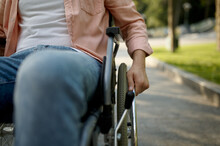 Young Male Person In Wheelchair, Paralyzed People