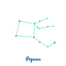 Pegasus Constellation, Winged Horse, 88 Constellations