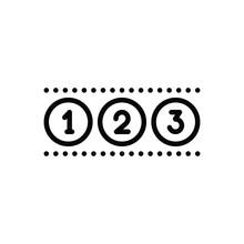 Black Line Icon For Numeric