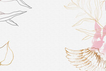 Angel Wing Background, Aesthetic Border Vector