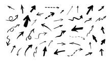 Vector Set Of Hand Drawn Grunge Arrows