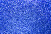 Dark Blue Glitter Shiny Texture Background For Christmas, Celebration Concept.