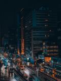 Night urban photo in São Paulo