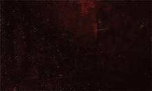 Abstract Grungy Decorative Red Wall Background With Old Distressed Vintage Grunge Texture. Pantone Of The Year Color Concept Background With Space For Text. Fit For Basis For Banners, Wallpapers