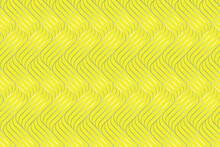Interlacing Of Gray Lines On A Yellow Background In The Trend Color 2021. Modern Design Stylish Pattern. Vector.
