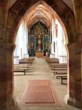 Inside of Cerveny Klastor monastery.