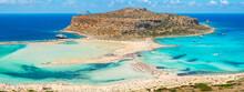Balos Lagoon Waterfront. Crete, Greece