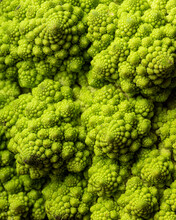 A Closeup View Of A Head Of Romanesco, Highlighting The Intricate Details And Texture
