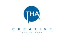 Creative Initial THA Circle Letter Logo Design Vector