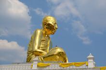 Big Buddha Statue In Wat Lahan Rai Temple In Nong Lalok, Thailand