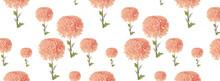 Banner Pattern Beautiful Pink Chrysanthemum