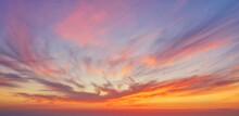 Beautiful Summer Sunset Dramatic Sky