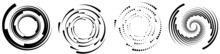 Spiral, Swirl ,twirl Circular, Concentric Element. Whirlpool, Whirlwind Cycle Loop Effect Shape