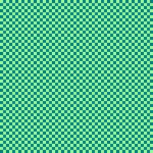 Checkerboard With Very Small Squares. Teal And Pale Green Colors Of Checkerboard. Chessboard, Checkerboard Texture. Squares Pattern. Background.