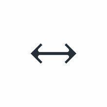 Arrow Is A Pointer To Go There And Back. Change Options. Discrepancy. Vector Linear Icon Isolated On White Background.
