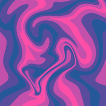 Vector Art Liquid Marble Purple To Blue Gradation, Abstract Background.
