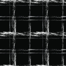 White Chalk Cage On A Black Background