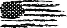 Vector Of The Distressed American Flag