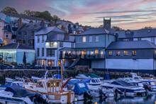 Custom House Quay In Falmouth Cornwall England