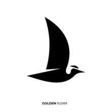 Illustration Vector Graphic Template Of Golden Plover Silhouette Logo